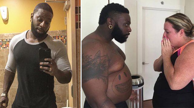 Entrenador personal intencionalmente aumenta 30 Kg. Su meta es inspirar a una clienta con sobrepeso