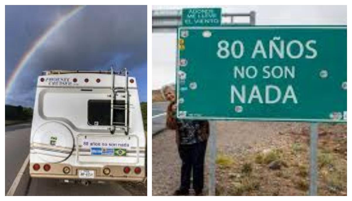 Anciana argentina de 80 años vende todo y a bordo de una casa rodante cumple su sueño