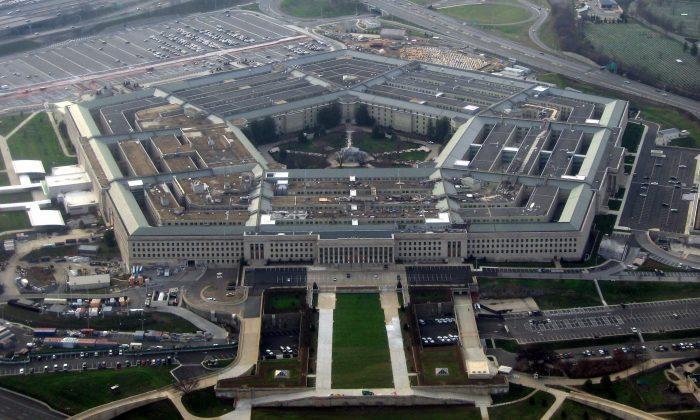 El Pentágono, sede del Departamento de Defensa de los Estados Unidos, imagen tomada de un avión en enero de 2008. (David B. Gleason / Wikimedia Commons)