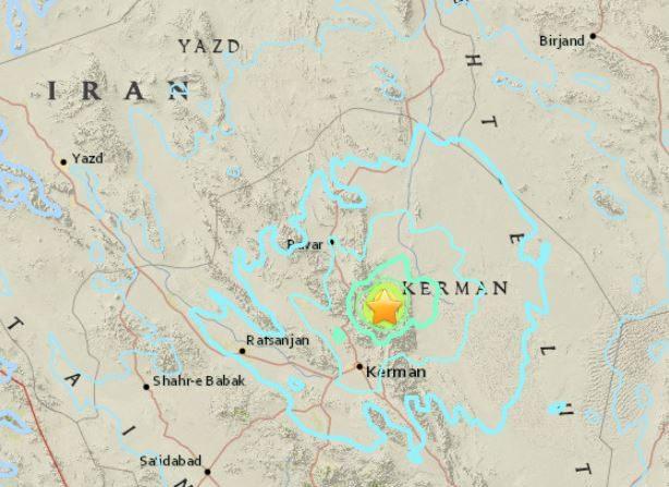 Terremoto en Iran de 5,9 grados el 12 de diciembre de 2017. (USGS)