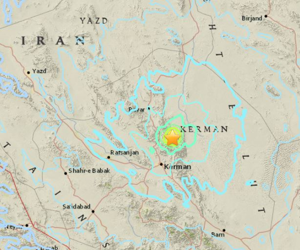 Réplicas de terremoto en Iran de 5,9 y 6,0 grados sacuden la región de Kerman
