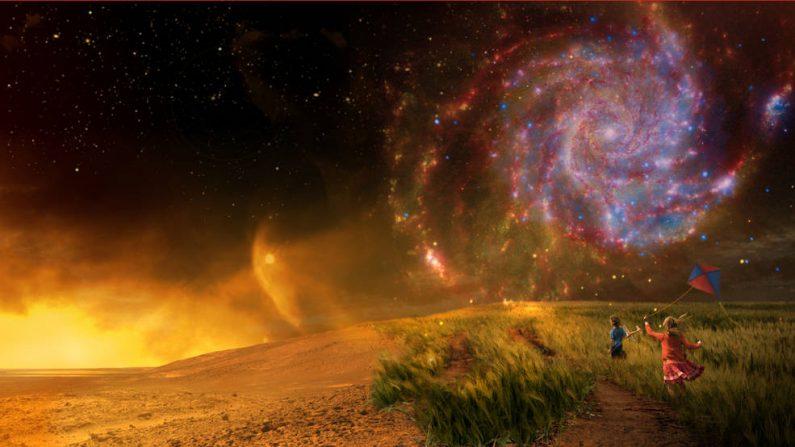 Entre los que piensan que no estamos solos en el universo, el 60 por ciento dijo que deberíamos intentar hacer contacto con las civilizaciones alienígenas. (Crédito NASA)