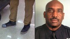 Policía hace una pregunta a un joven por sus zapatos, lo que pasó a continuación fue inesperado