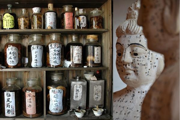 hierbas y puntos de acupuntura