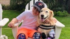 Un niño doblemente amputado viaja para conocer a Chi Chi, un perro con amputación cuádruple