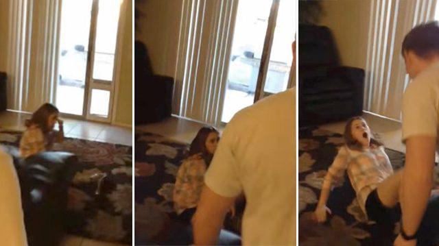 Adolescente recibe un susto de un 'intruso' en su casa. Al ver de quién se trata, rompe en lágrimas
