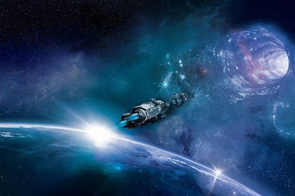tren espacial agujero por de gusano