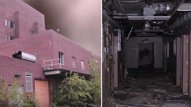 Se cuela en un hospital abandonado y comienza a filmar, hasta que escucha gritos espeluznantes