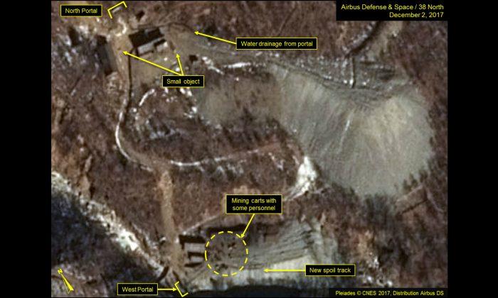 Imágenes de satélite revelan que Corea del Norte trabaja en su sitio de pruebas nucleares