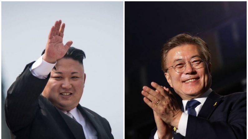 La última vez que las dos Coreas realizaron conversaciones oficiales fue en diciembre de 2015. En la foto el líder norcoreano Kim Jong-Un y el presidente surcoreano Moon Jae-In. (Crédito de ED JONES/AFP/Getty Images / Chung Sung-Jun/Getty Images)