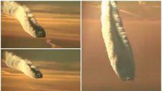 ¿Es un OVNI envuelto en llamas, o una nave de la fuerza aérea?