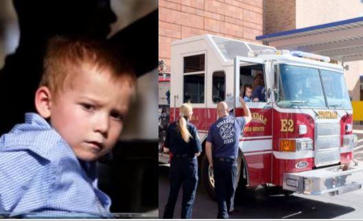 Emotivo regreso a casa del niño sobreviviente a la masacre en Texas: viaja con los bomberos