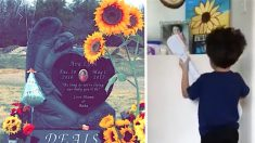 Padres arman un altar para su bebé fallecida. Lo que hace su hijo después, rompe el corazón de mamá