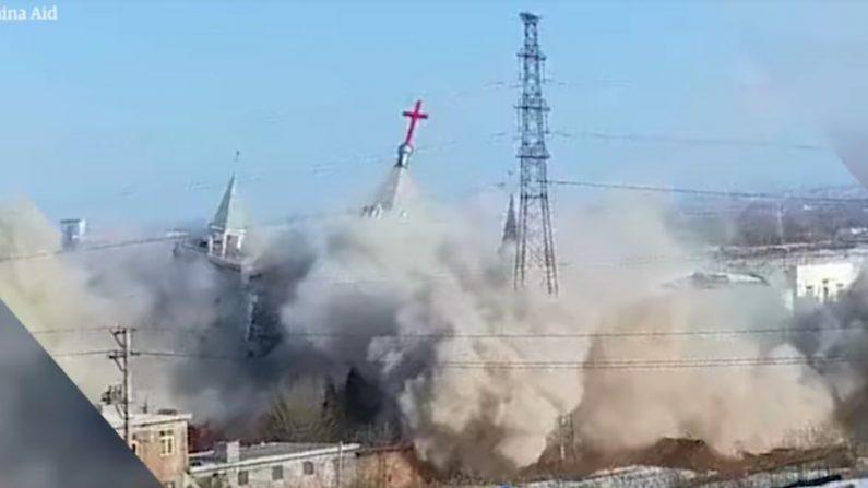 Régimen chino usó explosivos para demoler iglesia cristiana de una congregación de 50 mil miembros