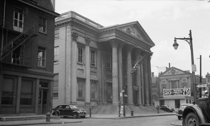 El Primer Banco de Estados Unidos en Filadelfia in 1939. (Biblioteca del Congreso)