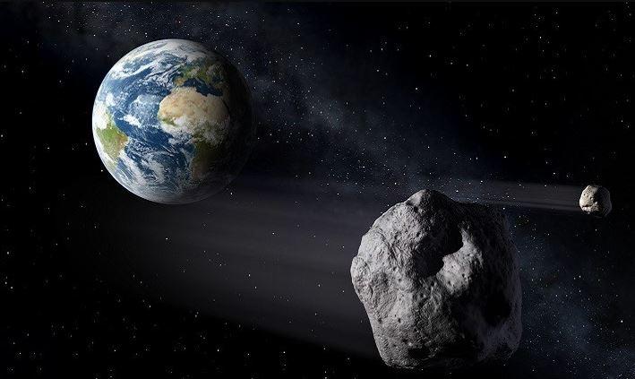 Algunos asteroides que cruzan la órbita de nuestro planeta alrededor del Sol, ponen en peligro a la Tierra. (NASA)