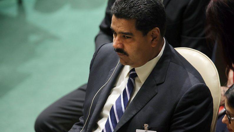 (El presidente venezolano Nicolás Maduro asiste a la Asamblea General de las Naciones Unidas en la sede de la ONU el 28 de septiembre de 2015 en la ciudad de Nueva York). (Crédito de Spencer Platt / Getty Images)