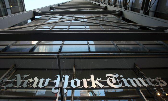 Foto de archivo de las oficinas del New York Times en Manhattan. (Mario Tama/Getty Images)