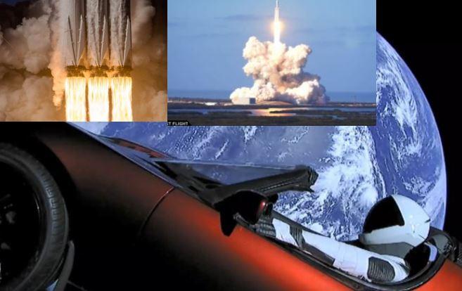 Space X lanza el supercohete Falcon Heavy y libera su descapotable a Marte (Vídeo)