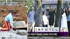 Madre soltera e hijos usan videos de YouTube para construir ¡la casa de sus sueños! mira su video