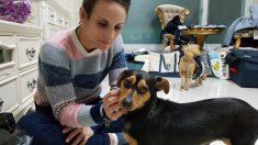 Una patinadora canadiense adoptó a un perro que iba a ser cocinado en sopa en Pyeongchang
