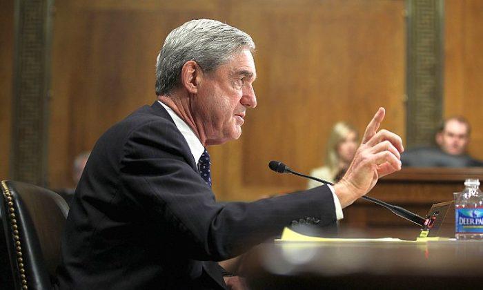 El Fiscal Especial Robert Mueller testifica durante una audiencia ante el Comité Judicial del Senado en Washington cuando era director del FBI, en 2012, una foto de archivo. (Crédito de Alex Wong / Getty Images)