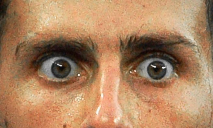 Los ojos del tenista serbio Novak Djokovic un partido en el Abierto de Australia en Melbourne el 22 de enero de 2018. (Saeed Khan / AFP / Getty Images) ShareTweetCompartirEmail