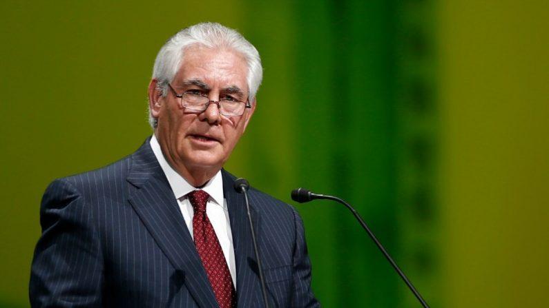 Rex Tillerson en la Embajada de Estados Unidos de Guatemala (Gobierno de EE.UU.)