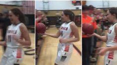 Rompe récord de baloncesto escolar: cuando sale de la cancha para ver a su abuelo, llorarás