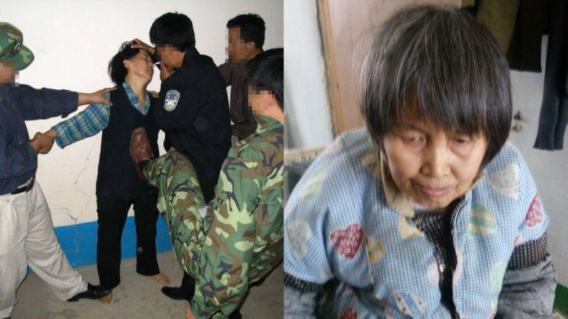 Representación de la tortura a la que se enfrenta un practicante de Falun Gong en China. Liu Xia quedó discapacitada después de siete años de tortura. (Minghui.org)