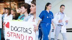 En Canadá, cientos de médicos protestan para que les bajen el salario (Sí, para que se los bajen)