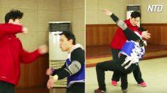Artista marcial enseña a miembros de SWAT; cuando golpea el casco usando solo sus manos, ¡Wow!