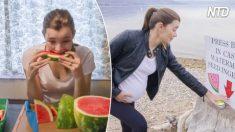 Mujer queda embarazada al comer semillas de sandía: Mira este asombroso video