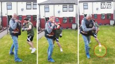 Adolescente entrena boxeo con su tío, entonces algo inesperado sale volando de la boca del tío