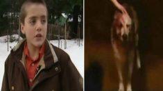 El puma ataca al niño pero su perro lo salva mientras mamá llama a la policía