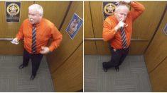 Cámara graba a un oficial de policía actuando de manera extraña en su último día de trabajo