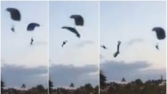 México: paracaidista muere al chocar con otro paracaídas (Video)