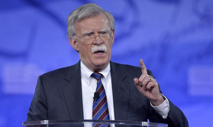 John Bolton, exembajador de Estados Unidos ante la ONU, habla en la Conferencia de Acción Política Conservadora (CPAC) en National Harbor, Maryland, el 24 de febrero de 2017. (Mike Theiler /AFP/Getty Images)