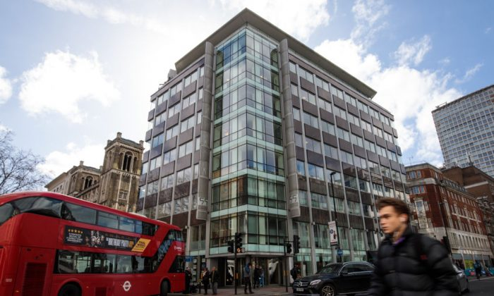 La sede de Cambridge Analytica en Londres el 20 de marzo de 2018. (Jack Taylor/Getty Images)