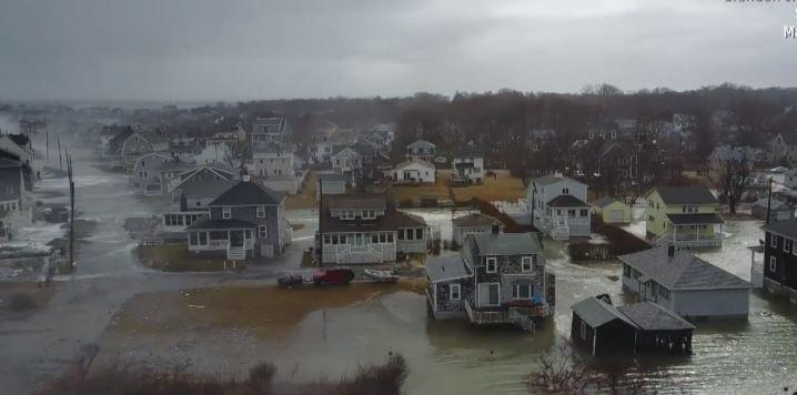 Tormenta de invierno Riley con vientoes extremos y marejadas, deja severas inundaciones en Estados Unidos entre el 2 y 4 de marzo de 2018. (Weather)