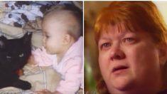 Una mamá estaba confundida por los chillidos de su gato, hasta que corre a ver a su bebé