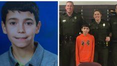 Los policías rescatan a un niño de 10 años desaparecido, espera a ver cómo los compensa