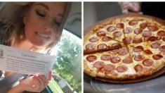 Una adolescente afortunada obtiene pizza gratis durante todo un año, pero no come ni un solo trozo