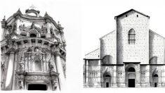Estos asombrosos dibujos de los edificios más famosos de Europa revelan lo enorme que son en realidad