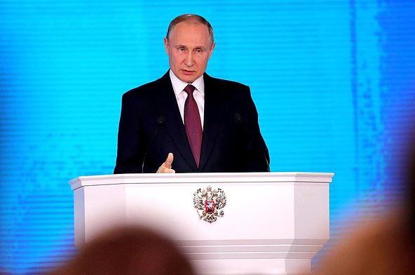 Putin en su discurso anual del estado de la Federación de Rusia, anuncia nuevas armas invulnerables. (Kremlin)