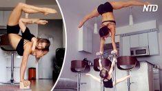 Esta madre bailó para el Circo del Sol, pero mira lo que puede hacer en su sala de estar