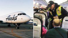 Conmoción retrasa 45 minutos el despegue: la pasajera sorprendida por la tripulación, toma una foto