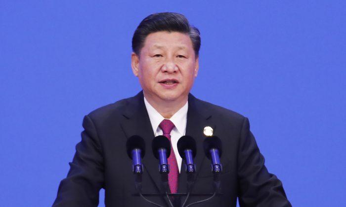 El líder chino Xi Jinping pronuncia un discurso durante la apertura del Foro de Bo'ao para Asia (BFA) en Boao, en la provincia de Hainan, en el sur de China, el 10 de abril de 2018. (AFP/Getty Images)