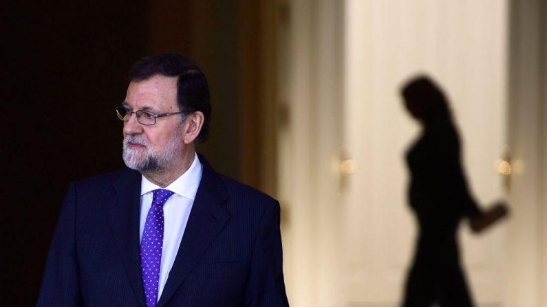 El presidente del Gobierno español, Mariano Rajoy, en Madrid el 17 de abril de 2018. (PIERRE-PHILIPPE MARCOU/AFP/Getty Images)