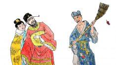 Monje Loco echó a los escobazos a los Qin de un templo